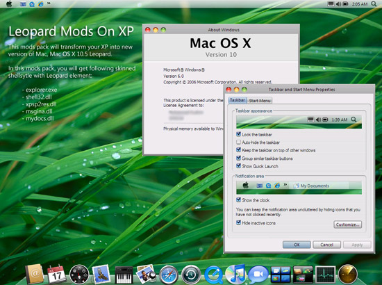 XP to Mac OS X Leopard