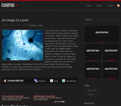 cosmo-blogger-template