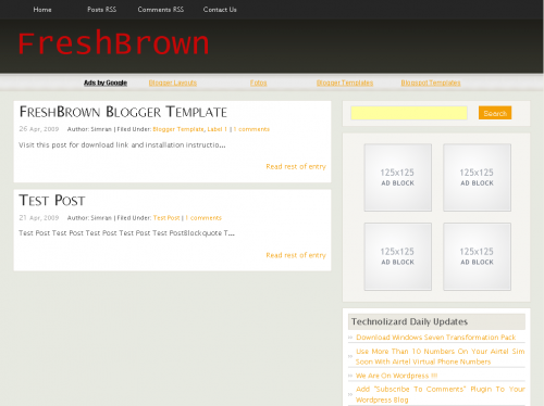 freshbrown-blogger-template