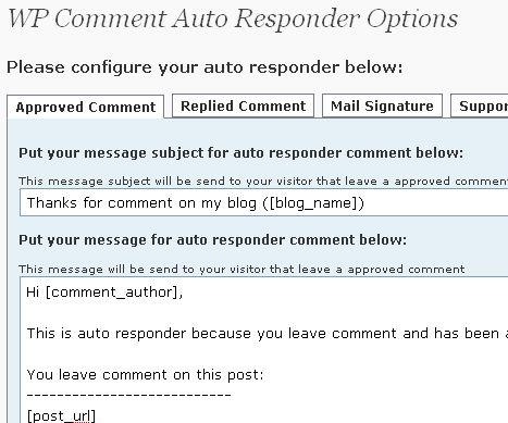 wp-comment-auto-responder