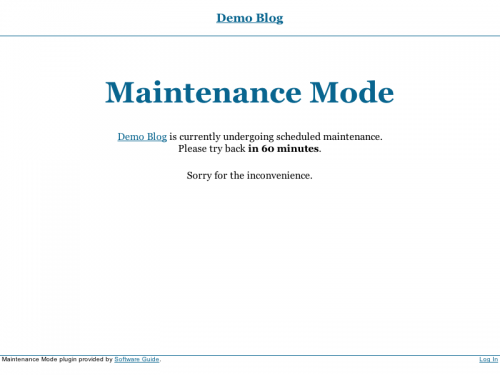 maintenace mode wordpress plugin