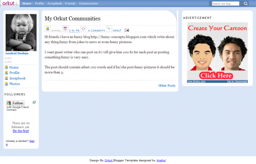 orkut-blogger-template
