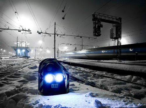 Night at the railroad station