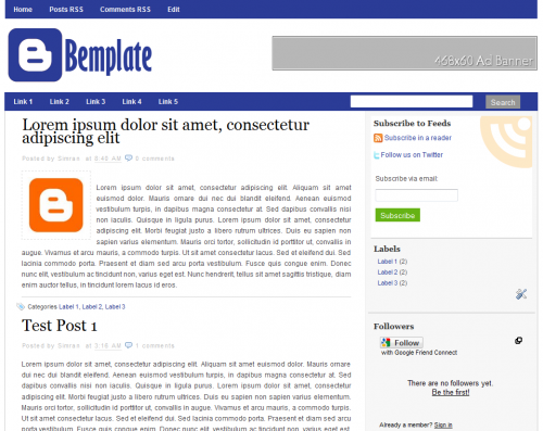 Bemplate Blogger Template
