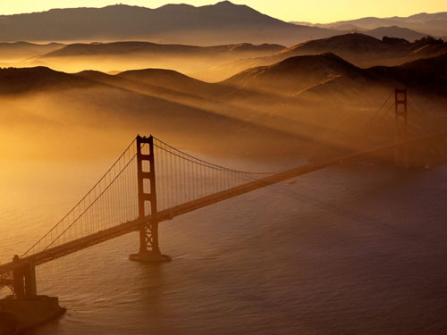 golden wallpaper. Golden Gate Bridge