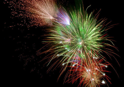 Multiple exposure fireworks