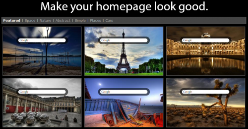 make your homepage look good