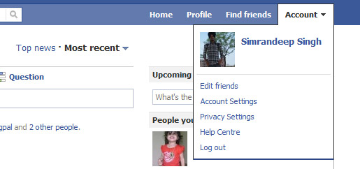 Facebook Redesign - Account Settings