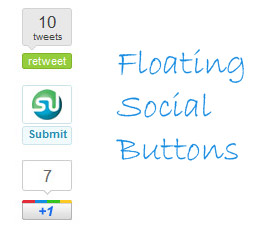 Floating Social Media Buttons