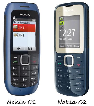 Nokia C1 and C2