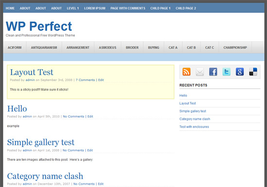 WP Perfect Free WordPress Theme