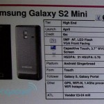 Samsung Galaxy S2 Mini Leaked