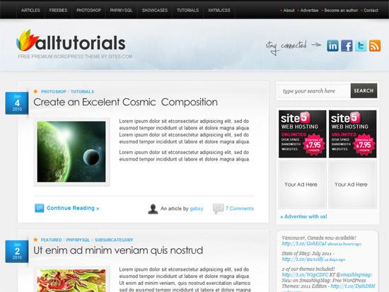 AllTuts 12 Best Free Premium Wordpress Themes 2012