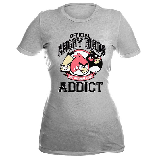 Angry Birds Addict Girls T-Shirt