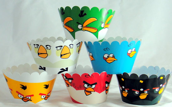 Angry Birds Birthday Party Cupcake Wrappers