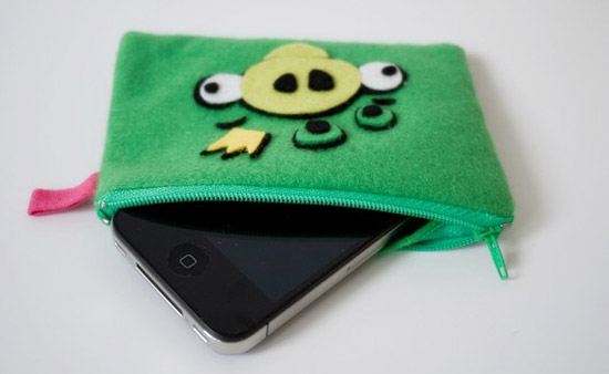 Angry Birds Felt Iphone, Ipod Case, Purse