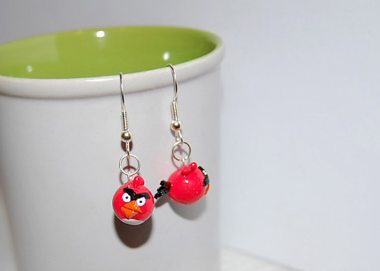 Angry birds earrings