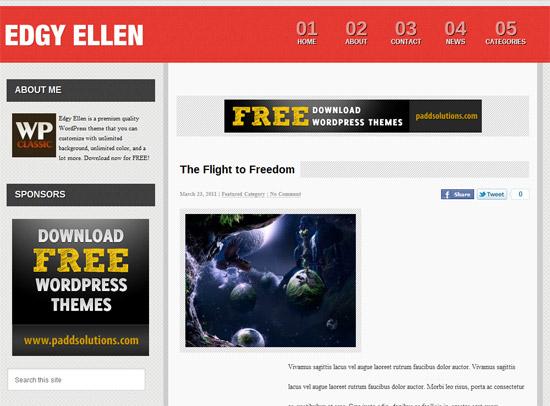 Edgy Ellen 12 Best Free Premium Wordpress Themes 2012