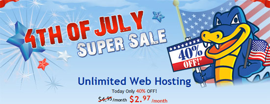 HostGator 4th July Discount
