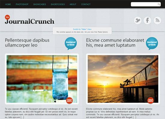 JournalCrunch 12 Best Free Premium Wordpress Themes 2012