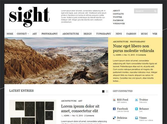 Sight 12 Best Free Premium Wordpress Themes 2012