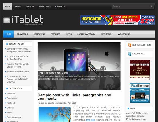 iTablet 12 Best Free Premium Wordpress Themes 2012