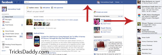Remove Facebook News Ticker