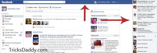Remove Facebook News Ticker