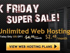 HostGator Black Friday Sale - 50% off on all hosting packages