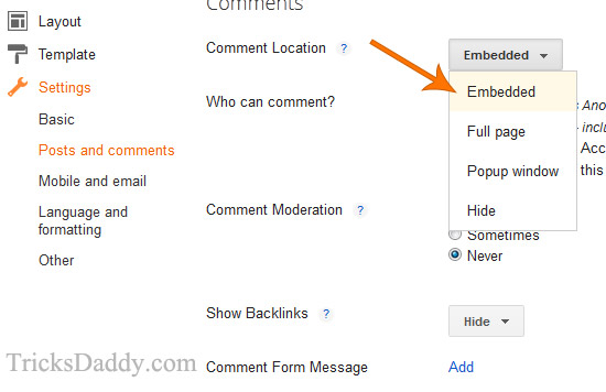 Embedded Comments